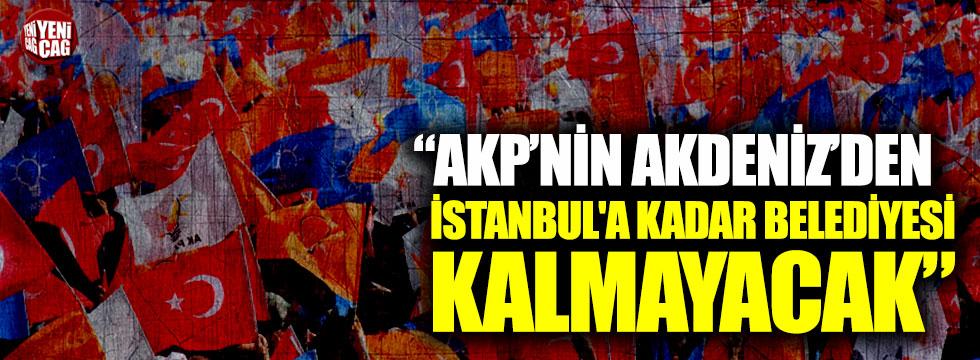 """""""AKP'nin Akdeniz'den İstanbul'a kadar belediyesi kalmayacak"""""""