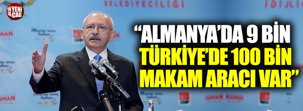 """Kemal Kılıçdaroğu: """"Almanya'da 9 bin Türkiye'de 100 bin makam aracı var"""""""