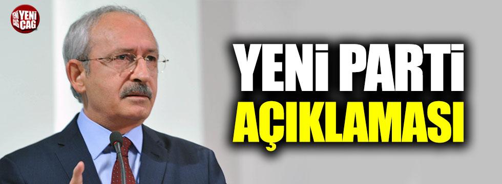 Kemal Kılıçdaroğlu'ndan yeni parti açıklaması