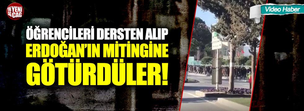 """""""Öğrencileri dersten alıp Erdoğan'ın mitingine götürdüler"""" iddiası"""