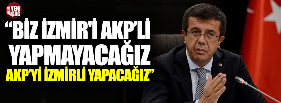 """Nihat Zeybekci """"Biz İzmir'i AKP'li yapmayacağız, AKP'yi İzmirli yapacağız"""""""