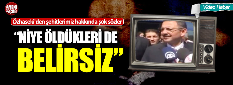 """Mehmet Özhaseki'den şehitlerimiz hakkında şok sözler: """"Niye öldükleri de belirsiz"""""""