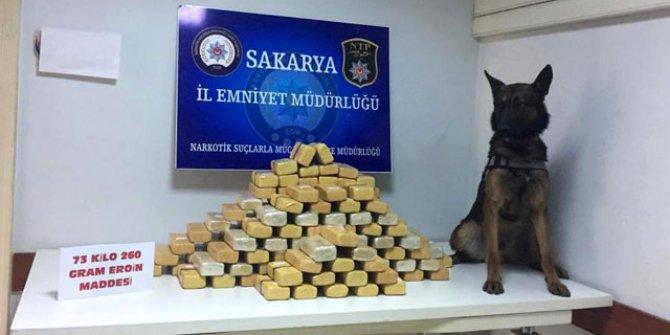 Sakarya'da 73 kilo eroin ele geçirildi: 5 tutuklama