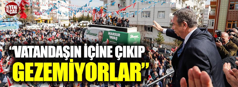 """Mansur Yavaş """"Görevden alacağımız insanlar var"""" dedi Özhaseki'ye yüklendi."""