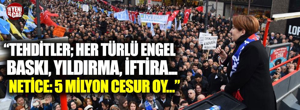 """İYİ Partili vekillerden Akşener mesajı: """"Bize tehdit işlemez"""""""