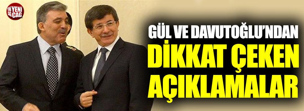 Abdullah Gül ve Ahmet Davutoğlu'ndan Erbakan açıklaması