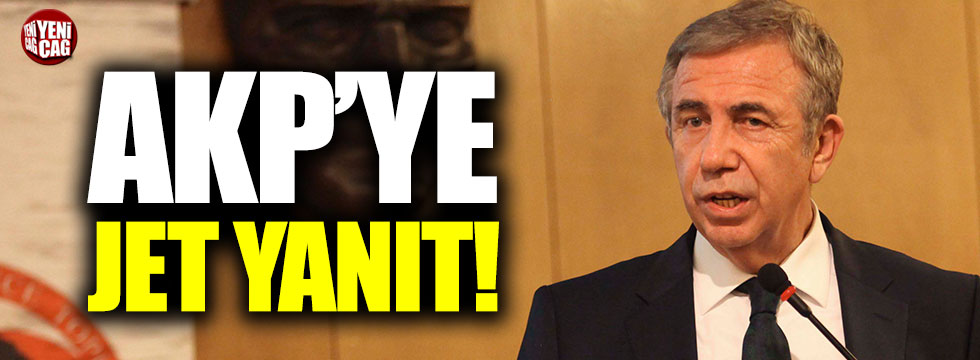 Mansur Yavaş'tan AKP'ye jet yanıt!