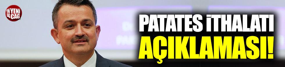Bekir Pakdemirli'den patates ithalatı açıklaması!