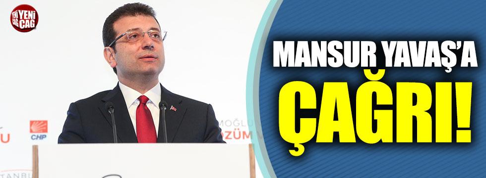 Ekrem İmamoğlu'ndan Mansur Yavaş'a çağrı