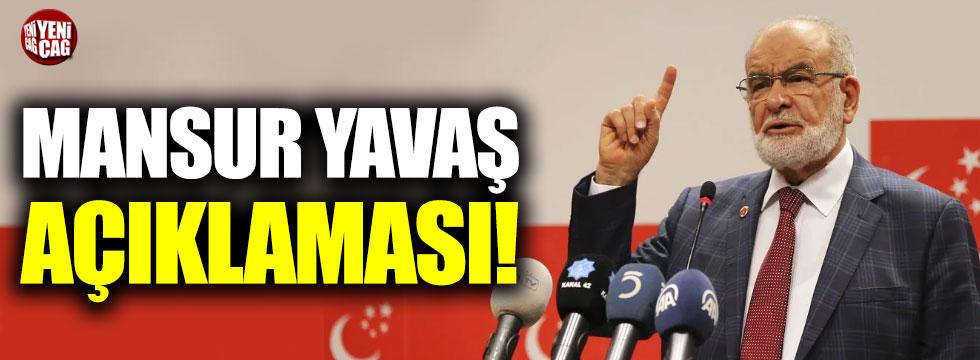 Temel Karamollaoğlu'ndan Mansur Yavaş açıklaması