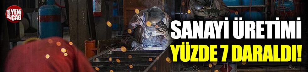 Sanayi üretimi yüzde 7,3 daraldı!