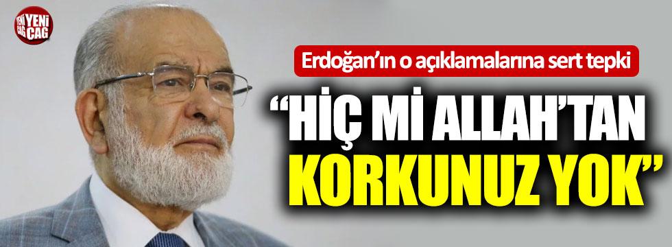 """Temel Karamollaoğlu'ndan Erdoğan'a: """"Hiç mi Allah'tan korkunuz yok"""""""