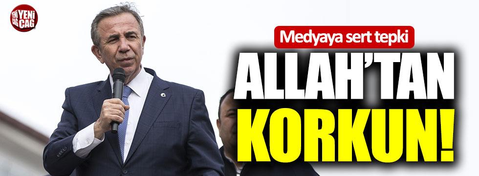 "Mansur Yavaş'tan medyaya tepki: ""Allah'tan korkun!"""