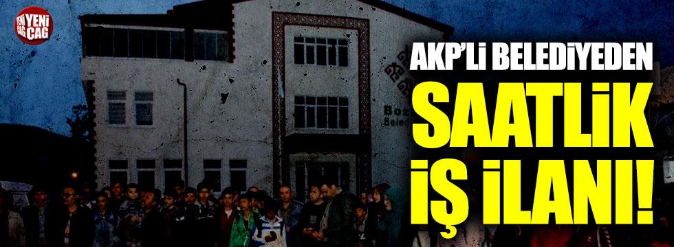 AKP'li belediyeden saatlik iş ilanı!