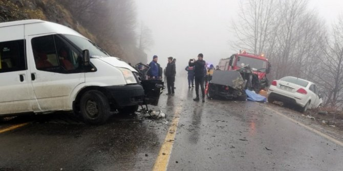 Ordu'da kaza:2 ölü, 4 yaralı
