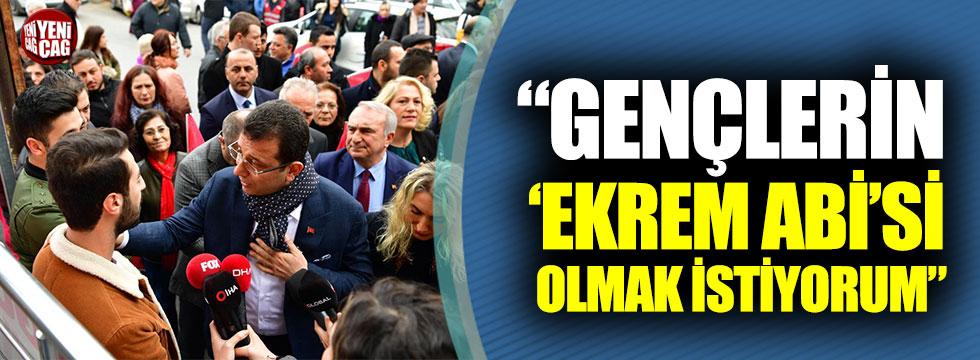 """Ekrem İmamoğlu: """"Gençlerin 'Ekrem Abi'si olmak istiyorum"""""""