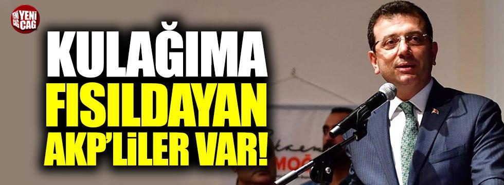 """İmamoğlu: """"AK Parti'den ciddi bir oy alacağım"""""""