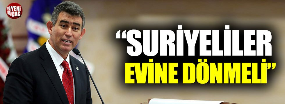 """Metin Feyzioğlu: """"Suriyeliler evine dönmeli"""""""