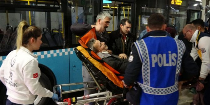 Otobüste baygınlık geçirip başını çarptı