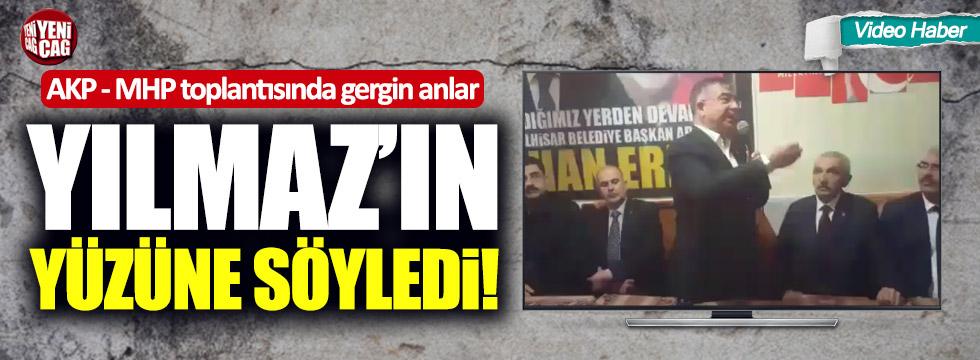 AKP - MHP toplantısında gergin anlar!