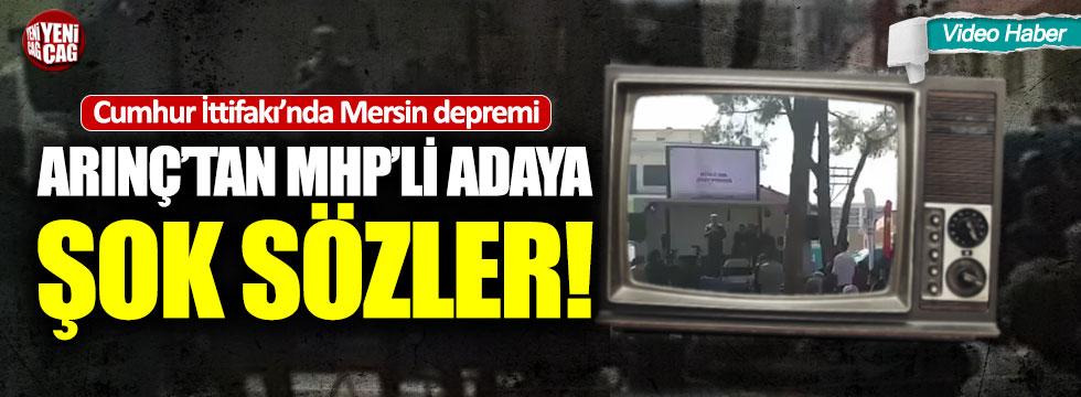 Bülent Arınç Manisa'yı karıştırdı: MHP'liler salonu terk etti
