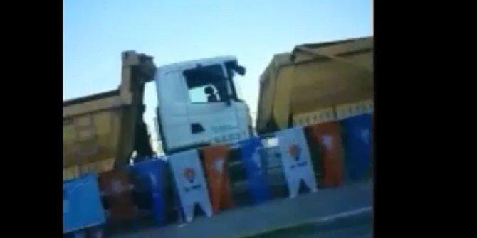 Erdoğan için kamyonlu koruma!