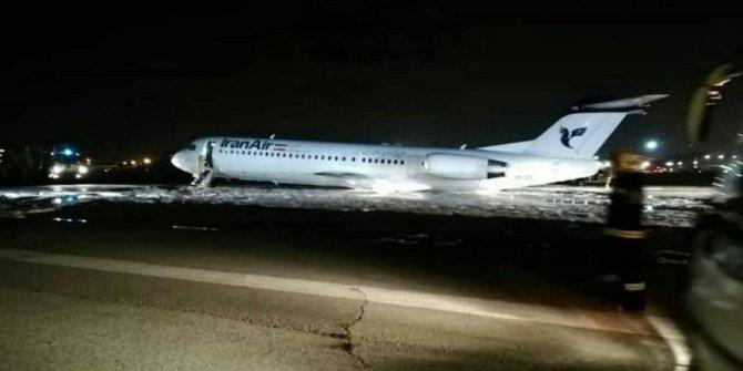 İran'da yolcu uçağı yandı