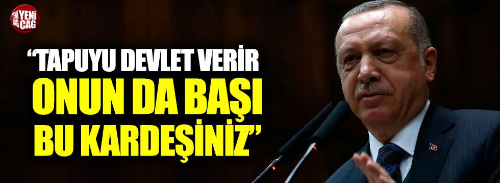 """Erdoğan'dan Üsküdar'da tapu vaadi: """"Tapuyu devlet verir, onun da başı bu kardeşiniz"""""""
