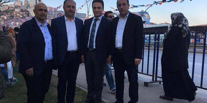 Milli Eğitim Müdürü AKP mitinginde