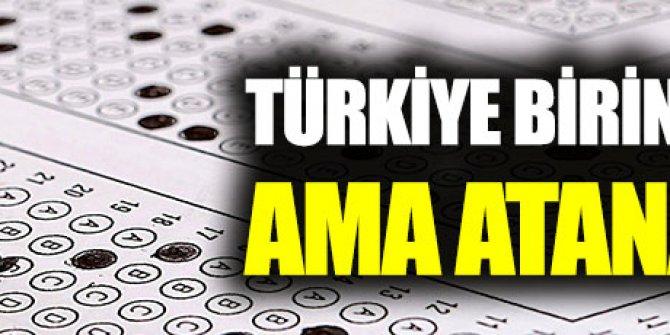 Türkiye birincisi oldu, atanamadı