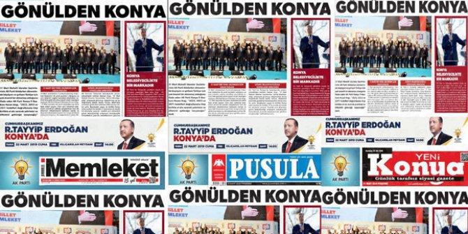 Konya basınından Erdoğan seferberliği!