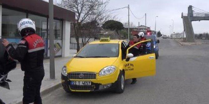 Taksiye kaçak göçmen operasyonu