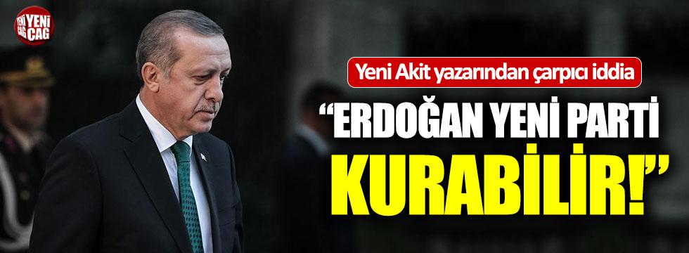 """Yeni Akit yazarından çarpıcı iddia: """"Erdoğan yeni parti kurabilir"""""""