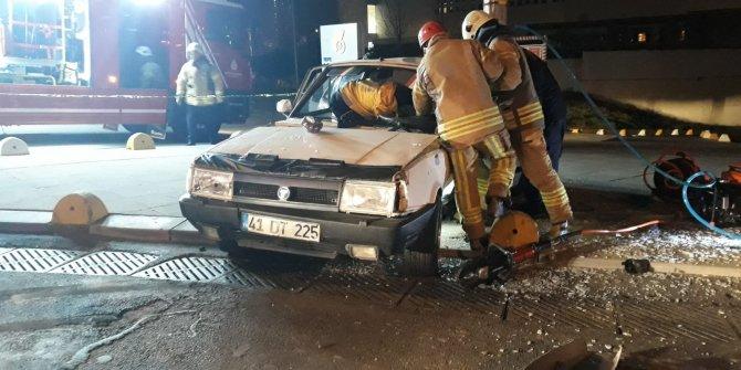 14 yaşındaki çocuğun kullandığı araç kaza yaptı