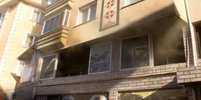 Kağıthane'de spor salonunda yangın