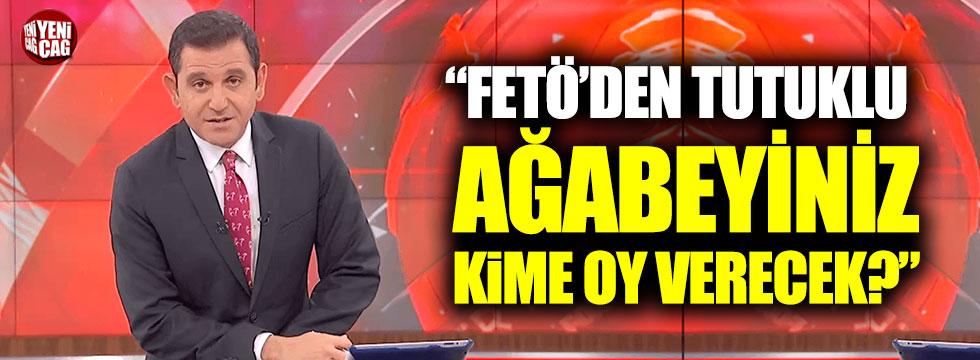 """Fatih Portakal, Bakan Pakdemirli'ye: """"FETÖ'den tutuklu ağabeyiniz kime oy verecek?"""""""