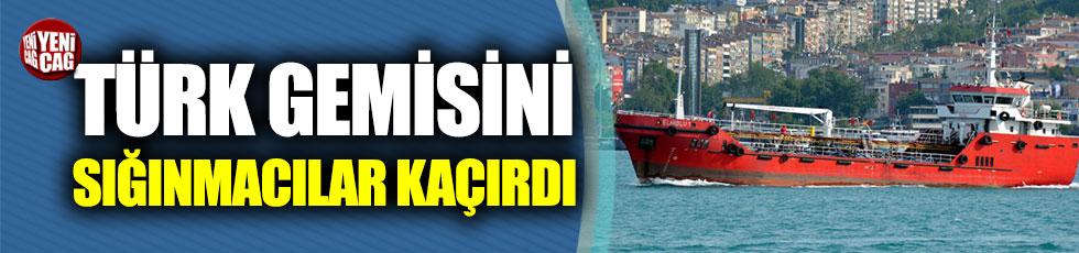 Türk gemisini, kurtardığı sığınmacılar kaçırdı