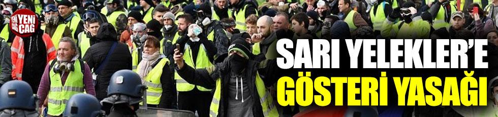 Sarı Yelekler'e Paris'te gösteri yasağı
