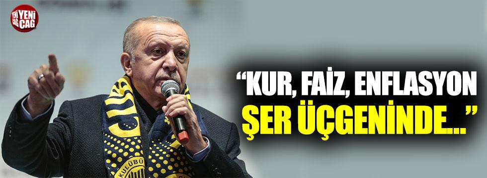 """Cumhurbaşkanı Erdoğan: """"Kur, faiz, enflasyon şer üçgeninde…"""""""