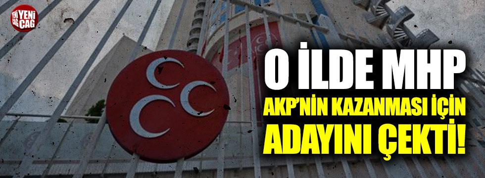 O ilde MHP, AKP'nin kazanması için adayını çekti