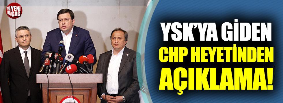 YSK'ya giden CHP heyetinden açıklama