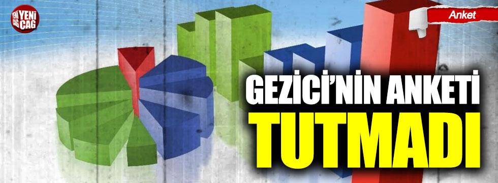 Gezici'nin Adana anketi tutmadı