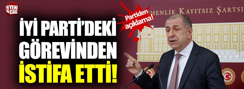 Ümit Özdağ İYİ Parti'deki görevinden istifa etti