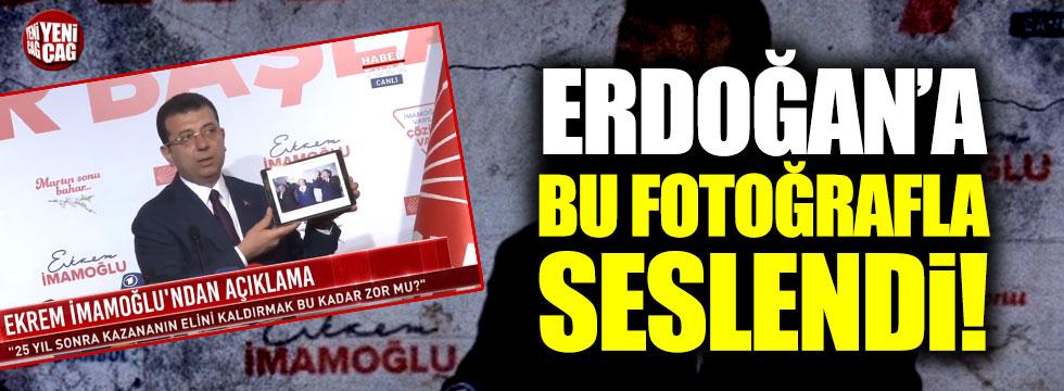 Ekrem İmamoğlu Erdoğan'a bu fotoğrafla seslendi!