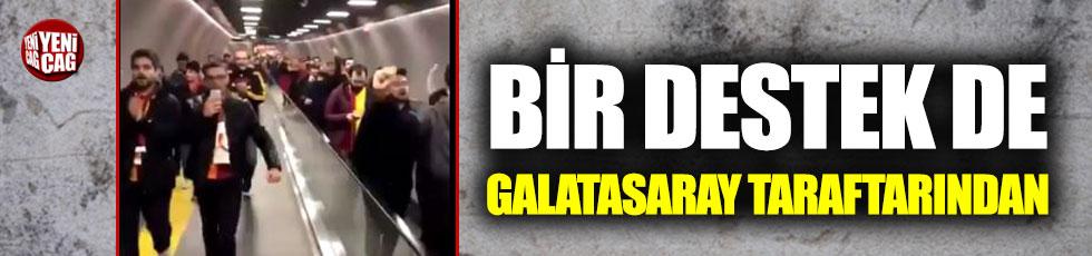 Galatasaraylılardan Ekrem İmamoğlu için tezahürat