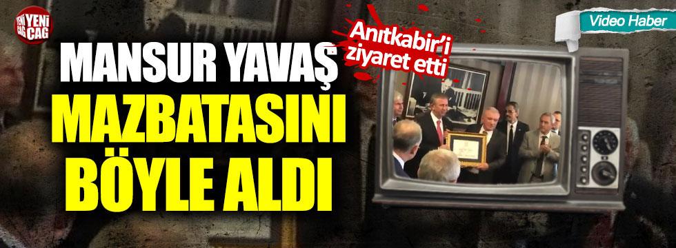 Mansur Yavaş Ankara mazbatasını aldı