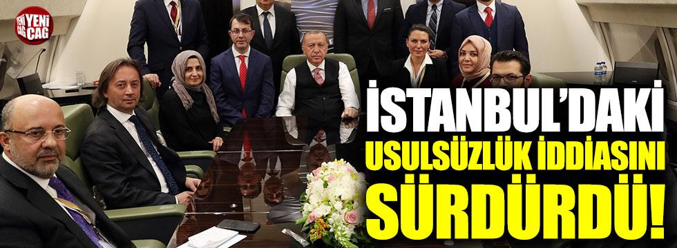 Cumhurbaşkanı Erdoğan, İstanbul'daki usulsüzlük iddiasını sürdürdü!