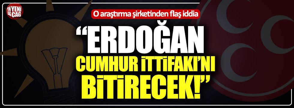 """O araştırma şirketinden flaş iddia: """"Erdoğan Cumhur İttifakı'nı bitirecek"""""""