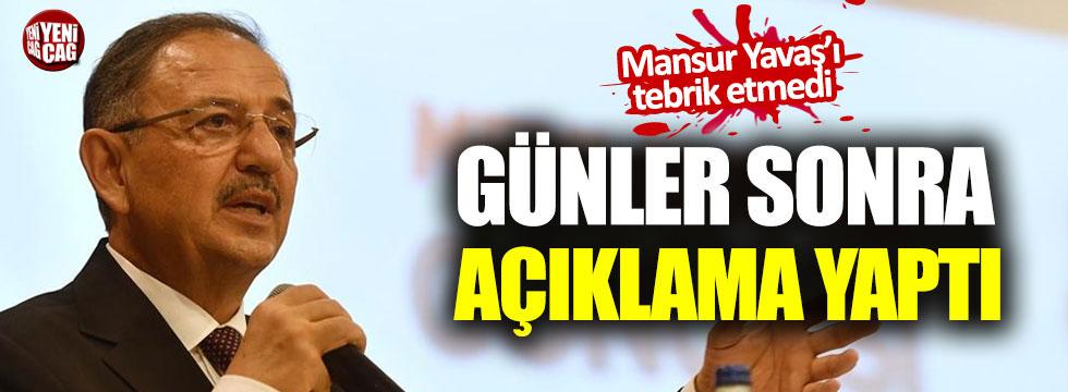 Seçimi kaybeden Mehmet Özhaseki günler sonra açıklama yaptı