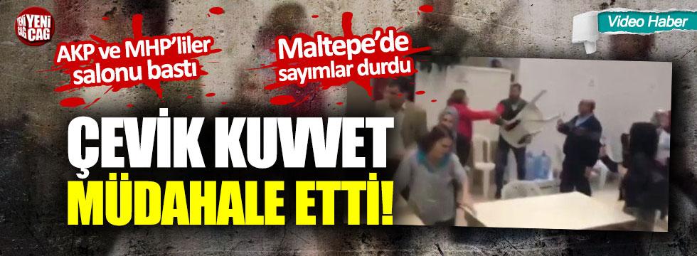 Maltepe'de neler oluyor? Polis müdahale etti